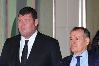 James Packer with former Crown chairman John Alexander