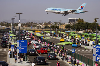 A Korean Air jet comes in to land at Los Angeles' LAX Airport. Almost all of America's airports are government owned.