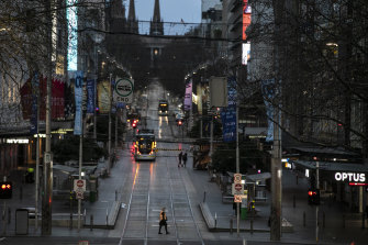 The Bourke St Mall on Friday.