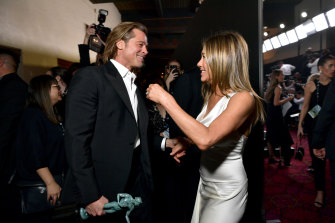 Brad Pitt and Jennifer Aniston at the 26th Annual Screen ActorsGuild Awards.
