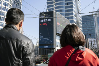 China's stock markets had been trading at record levels last month before the sell-off started and wiped off more than $1.7 trillion of value.