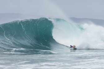 Tyler Wright en route to the Maui Pro final where she lost to countrywoman Steph Gilmore.