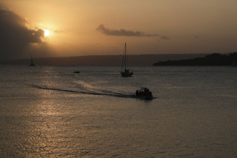 Sunset in Port Vila, Vanuatu. The country has only recorded three COVID-19 cases since January 2020.
