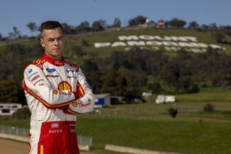 Three in a row: Supercars driver Scott McLaughlin.