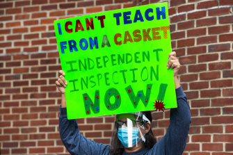 Some teachers have been protesting about the return to in-person teaching without proper safety precautions in New York.