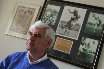 Graham 'Polly' Farmer, pictured in 2010.