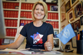 Natasha Stott Despoja campaigned for her new UN position from her study in Adelaide.
