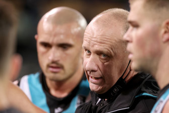 Power coach Ken Hinkley and his side had been told they were headed to Victoria.