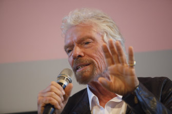 Richard Branson, pictured, holds only a 10 per cent stake in Virgin Australia.