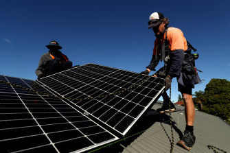 The solar panel program is key to the Victorian government's target of 50 per cent renewable energy by 2030.