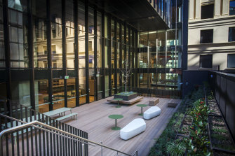 A terrace at the National Australia Bank headquarters in Sydney.