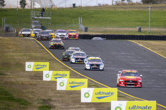 Scott McLaughlin out front during event three of the Supercars Championship last month.