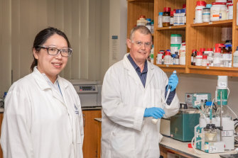 "Dr Malinda Salim and Professor Ben Boyd, members of Monash University's Eureka award-winning ""milkshake team""."