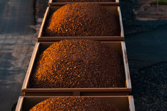 The price of iron ore has hit $US200 for the first time.