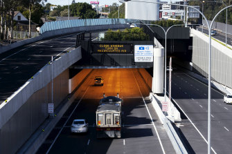 The M4 East tunnel opened to traffic in July 2019.