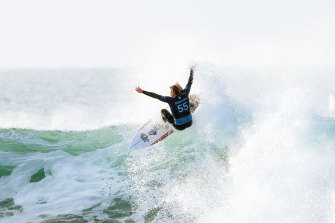 Australian surfer Wade Carmichael during the Rip Curl Pro at Bells Beach.