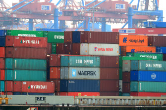 Global supply chains remain choked.