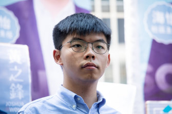 Pro-democracy activist and Demosisto Party founder Joshua Wong.