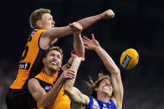 Nervous energy: Ben McEvoy, left, is relishing his switch from ruck to defence.