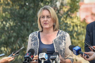 """Minister Jacinta Allan says """"it's all about providing a better road network""""."""