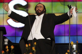 Luciano Pavarotti during the Pavarotti & Friends charity concert for Iraqi children at the Novi Sad Park in Modena, Italy. Ron Howard says he hopes his new documentary about the opera icon will introduce the singer to a young generation.
