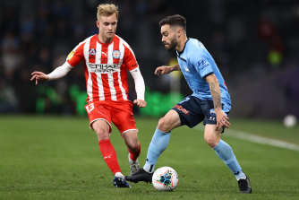 The glory of youth: Nathaniel Atkinson, right, is expected to stay at Melbourne City.