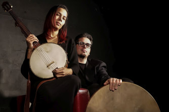 """""""There is no culture that exists in a vacuum"""": Rhiannon Giddens and Francesco Turrisi."""