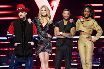 Swivelling again: Boy George, Delta Goodrem, Guy Sebastian and Kelly Rowland are all returning as coaches on The Voice in 2020.