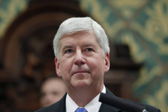 Former Michigan governor Rick Snyder.