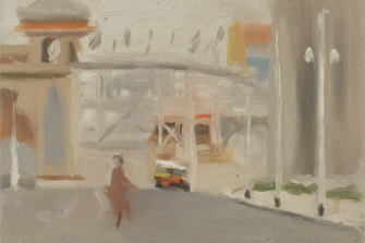 Clarice Beckett, Australia, 1887 - 1935, Luna Park, 1919, Melbourne, oil on board; Gift of Alastair Hunter OAM and the late Tom Hunter in memory of Elizabeth through the Art Gallery of South Australia Foundation 2019, Art Gallery of South Australia, Adelaide.