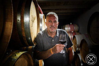 Sir Ian Botham during a wine tasting in New Zealand.