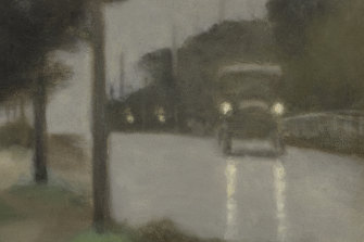 Clarice Beckett, Australia, 1887-1935, Motor lights, 1929, Melbourne, oil on board; Gift of Alastair Hunter OAM and the late Tom Hunter in memory of Elizabeth through the Art Gallery of South Australia Foundation 2019, Art Gallery of South Australia, Adelaide.