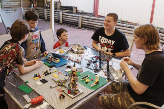 Kirsty Parkes' sons have been busy making a Lego movie together.