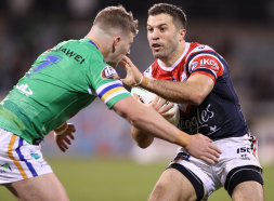 Fullback James Tedesco starred as the Roosters consolidated themselves in the top four.