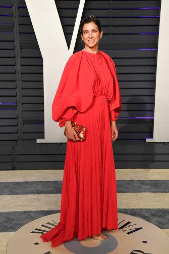 Radhika Jones at the 2019 Vanity Fair Oscar Party in Beverly Hills.
