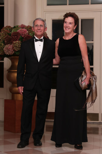 Fauci with wife Christine Grady, who runs the bioethics department of a US federal research hospital.