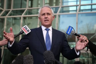 Malcolm Turnbull announces his challenge to Tony Abbott's leadership in September 2015.