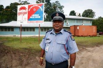 Manus Island police commander David Yapu.