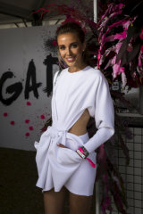 One-hour dress ... Bec Judd at Jaggad.