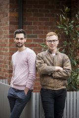 Elias Brown (L) and Ben Nielsen are renting in St Kilda and saving for a home.