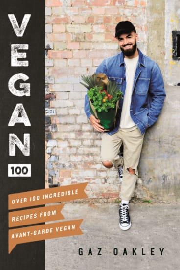 Cover photo of book 'Vegan 100' by Gaz Oakley.