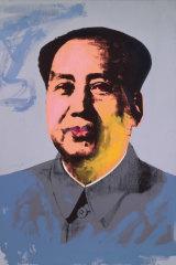 Andy Warhol, Mao 1972, acrylic and silkscreen ink on linen.