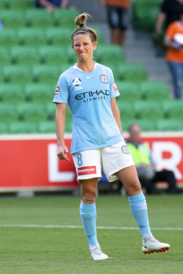 Elise Kellond-Knight's face says it all after missing a penalty for City.
