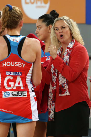 Promising: Swifts coach Briony Akle.
