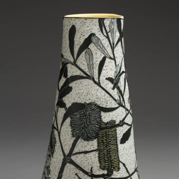Cathy Franzi, <i>Swamp Banksia,</i> at Craft ACT.
