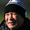 Regret: Eddie Jones in camp with the Barbarians in London.