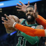 Irving's double-double as Celtics hang on to beat Thunder