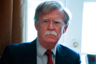 US National Security Adviser John Bolton during a cabinet meeting at the White House.