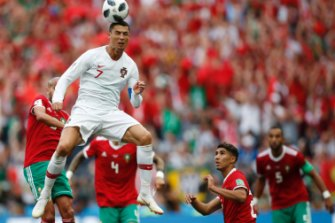 Portugal's Cristiano Ronaldo in this year's FIFA World Cup.