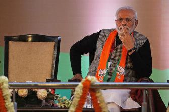Indian Prime Minister Narendra Modi .